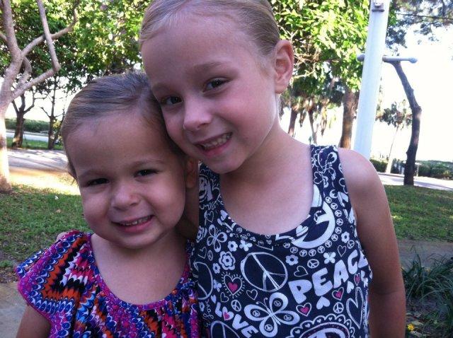 Sara and Sophia April 2012