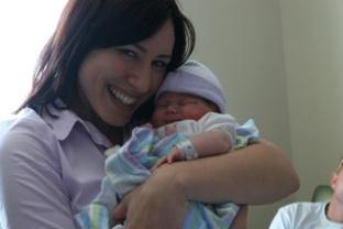 Sara's birth- Aunt Mel