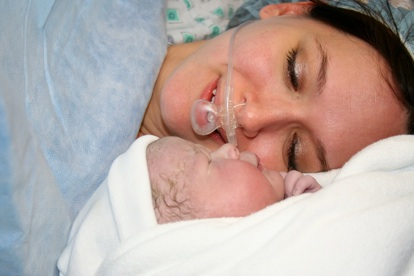 Sophia meets mommy
