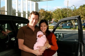On our way home after Sophia's birth