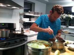 Doug working on Cinco de Mayo lunch for Guruz staff
