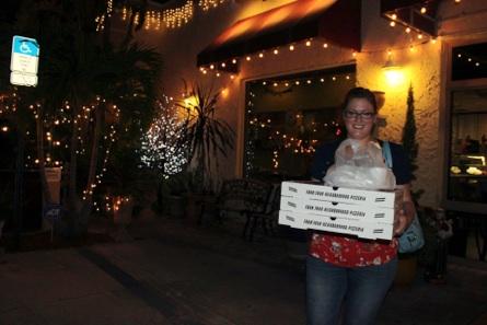 Allie's birth. Picking up dinner for Kristen