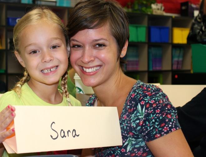Sara's first day back