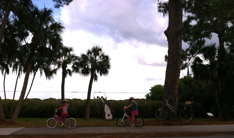 Girls bike ride
