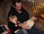 Dad, Lilli and Audrey