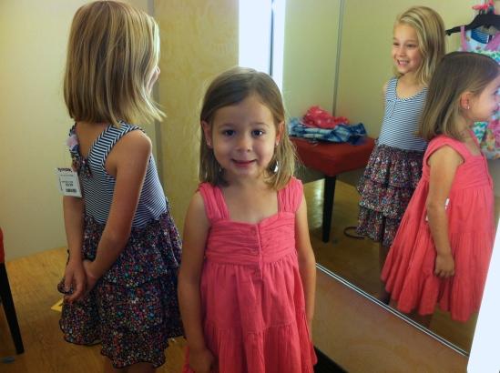 Easter dress shopping