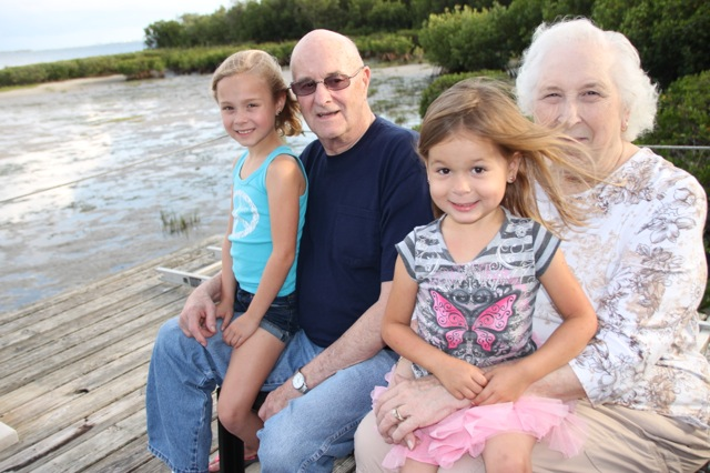 with Nona and Grandpa Webber