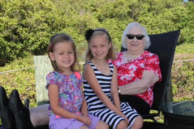 Sara and Sophie with Nona