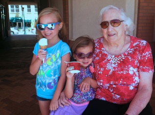 ice cream with Nona Webber
