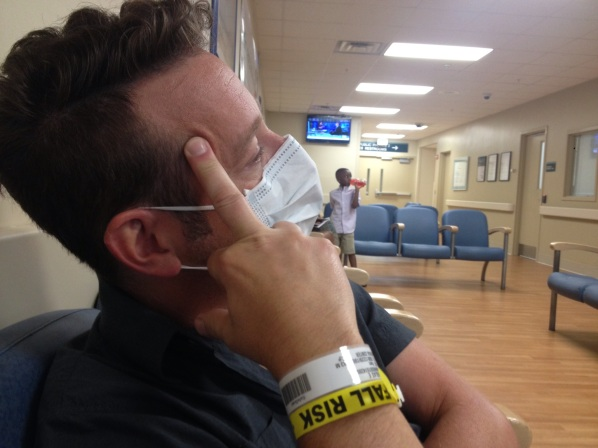 this is how he really feels about being at the ER