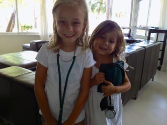 nurse Sara and Sophie