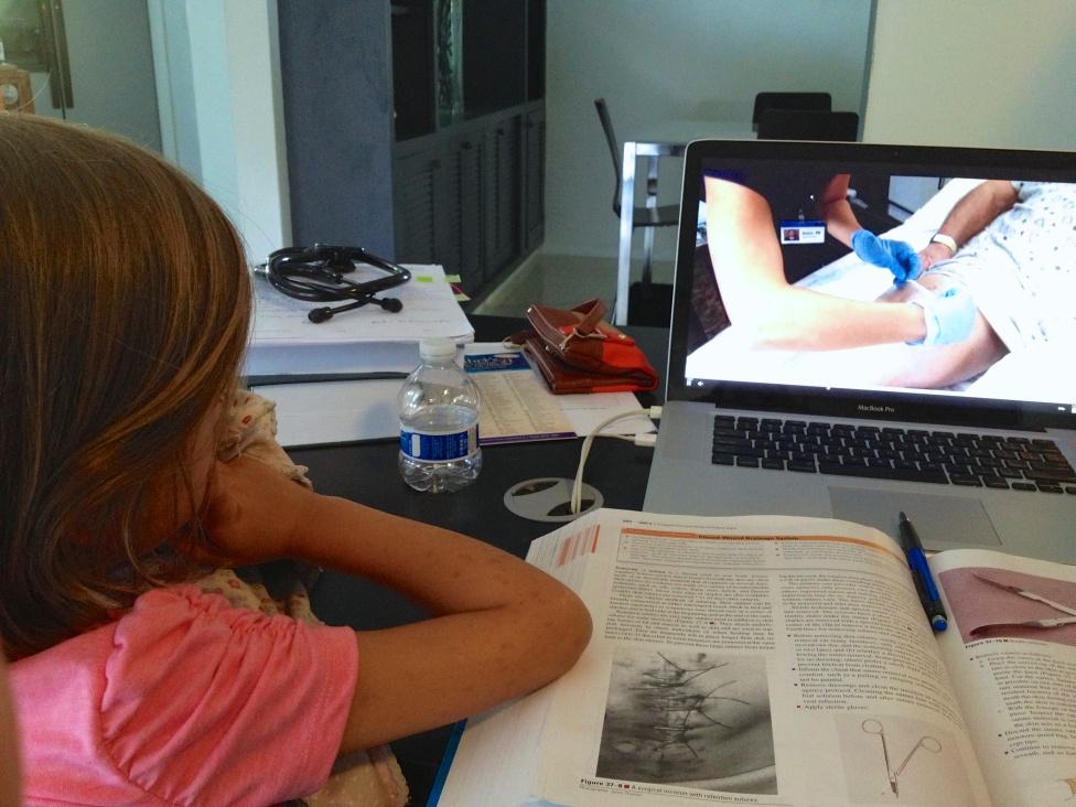 Sophie studies with me
