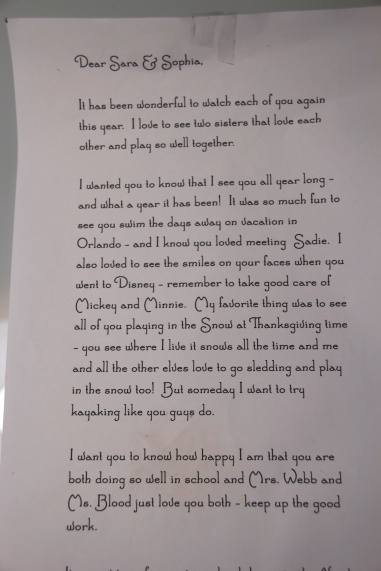 letter from our elf Charles Kringle