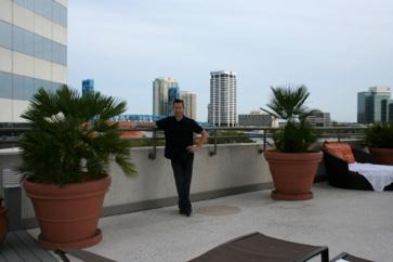 rooftop of Omni Resort in Jacksonville