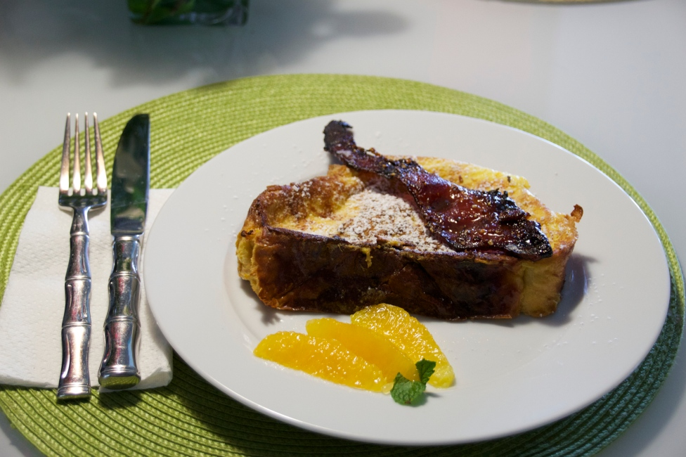 Orange infused challah french toast
