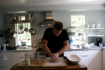 making homemade pizza dough