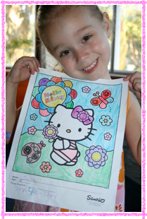 Hello Kitty Coloring Contest