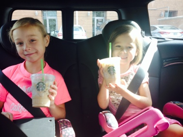 Starbuck's drinks for the ride to Busch Gardens