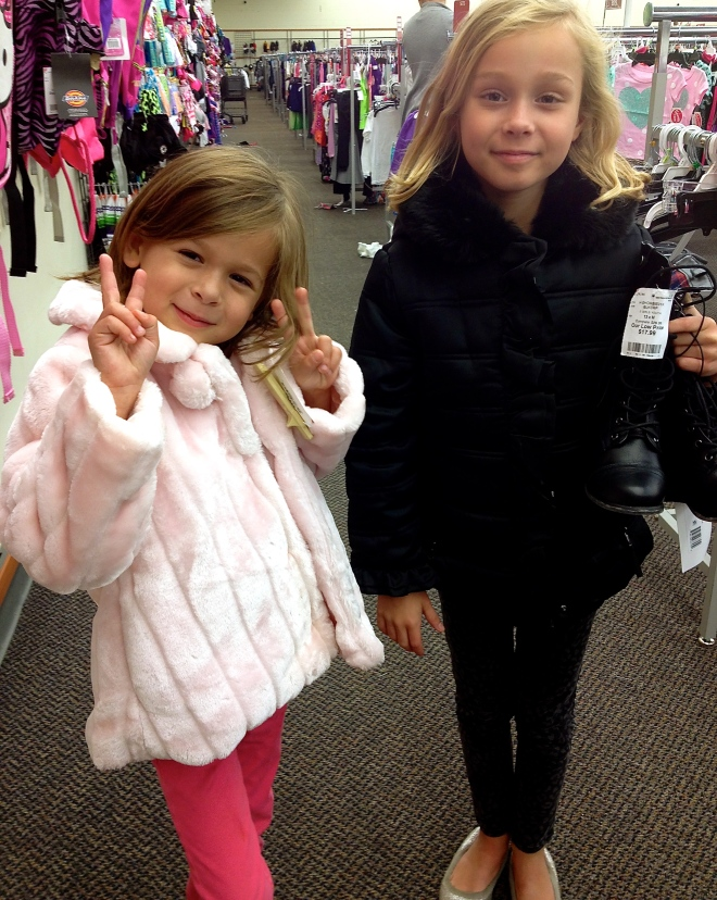 Sophie and Sara- new coats