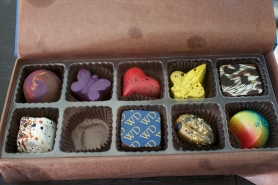chocolates from Jen. Aren't they gorgeous.