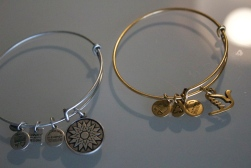 Alex and Ani bracelets from my neighbors Jim and Tutti