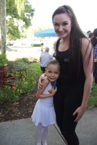 Sophie with her ballet instructor