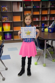 "Sophie won the Character award for ""Kindness"""